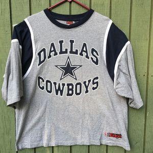 Vintage Dallas Cowboys 1987 Grey/Navy Tee Shirt